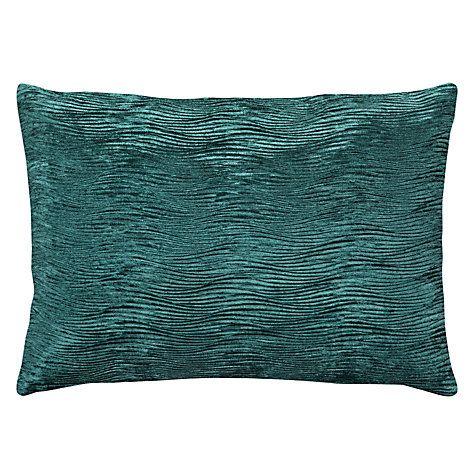 Textured velvet cushion