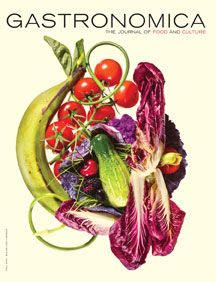 Colorful food. Magazine cover.