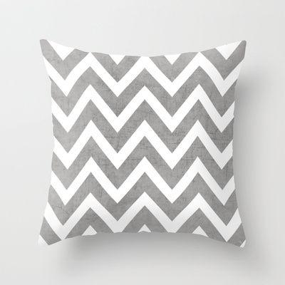 gray chevron Throw Pillow by Her Art - $20.00