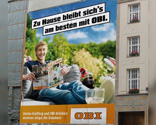 Stefan Kießling: Lustige Werbung für OBI