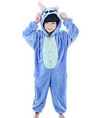 Kigurumi+Pijama+Animé+Disfraz+Pijama+Mono+Pijama+Azul+Piscina+Rose+Vellón+de+Coral+Cosplay+por+Niño+Ropa+de+Noche+de+los+Animales+–+EUR+€+24.23