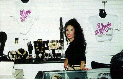 Selena in her boutique.