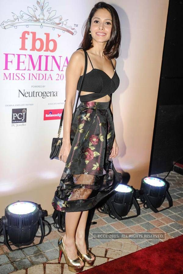 Nushrat Bharucha at the Miss India 52nd year celebration party. #Page3 #Fashion…