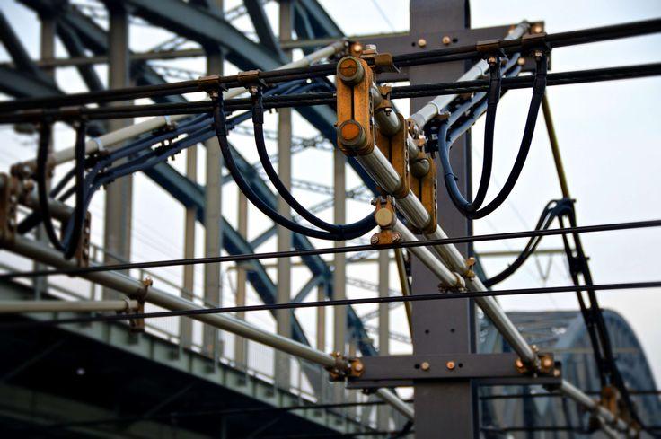 #aberration #artfully #bridge #catenary #complexity #engineer #high voltage #line #technology #train