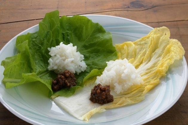 包んで食べるとこんなに美味しい「塩漬け白菜とサンチュの肉味噌」 - Yahoo! BEAUTY