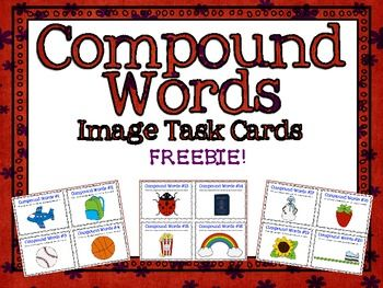 *FREE* Compound Word Images Task Cards!