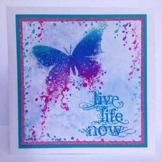 Visible Image stamps - Butterfly INKognito - Live Life NOw - Nicky Gilburt