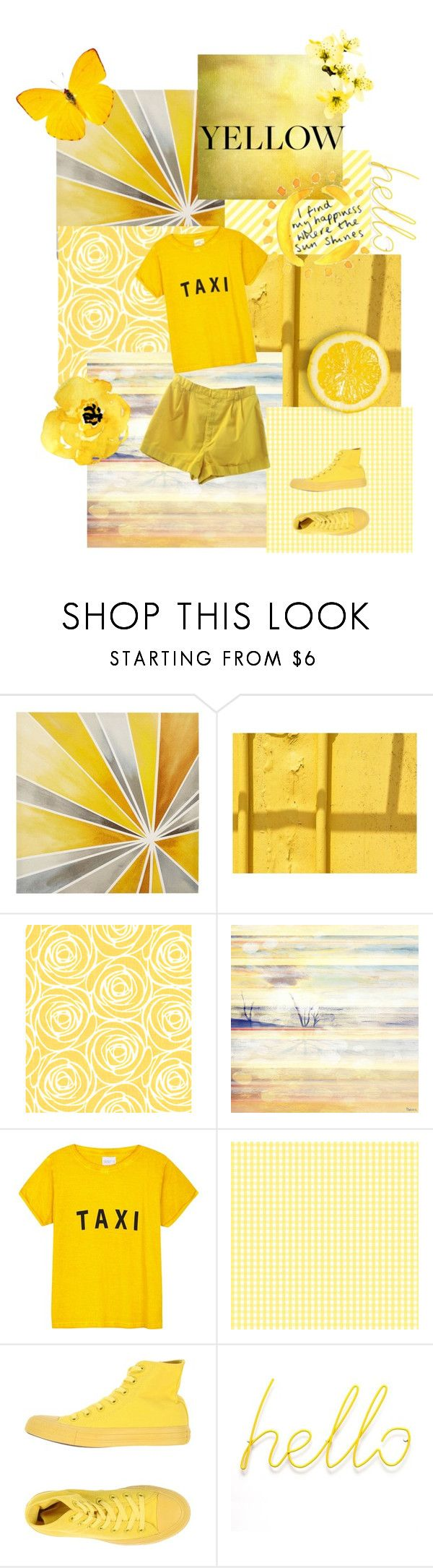 """Yellow"" by dramagirl4 ❤ liked on Polyvore featuring Intelligent Design, Parvez Taj, Compañia Fantastica, A. Byer and Converse"