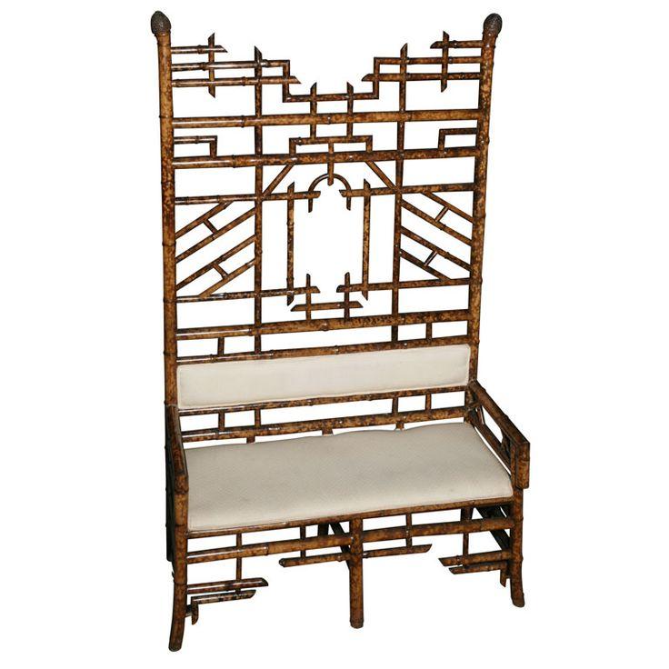 Cool & unusual - I am always drawn to bamboo.: Bamboo, Unusual, Furniture, English, Drawn, Sofas, Settees, I Am