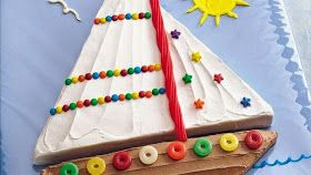 Gâteau d'anniversaire bateau - sailboat birthday cake