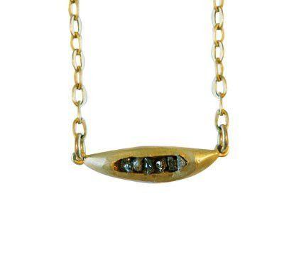 Crick & Watson - Tucked in Diamonds Necklace, Natalie Frigo, Crick & watson