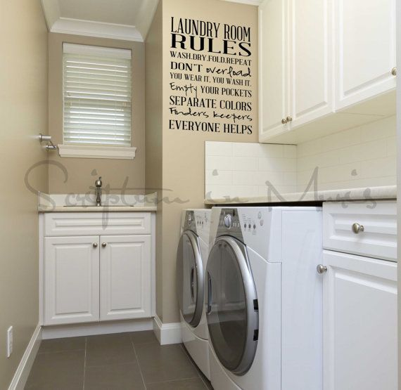 48 best laundry room ideas images on pinterest laundry - Laundry room wall ideas ...
