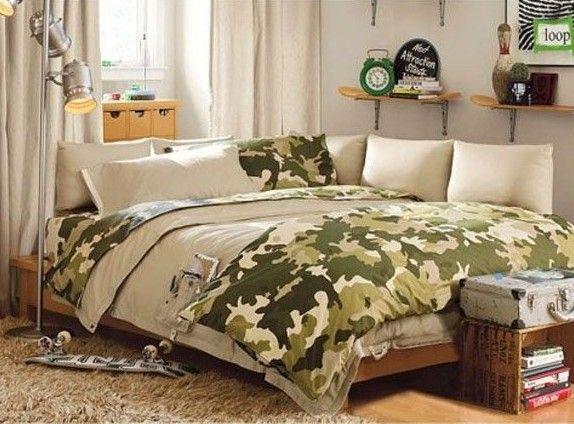 Chicos adolescentes Dormitorio estilo militar cama de diseño superior