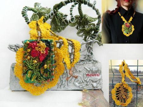 necklace handmade women jewelry flowers sweet