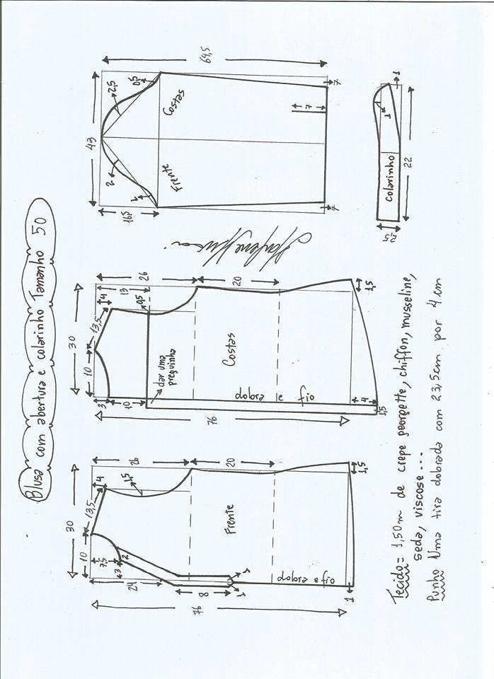 Descarga Patrones Gratis Para Blusa Con Abertura Tallas Desde 36 Hasta 56 Fashionaty Com Fashionat Patrones De Blusa Patrones De Costura Patrones De Camisa