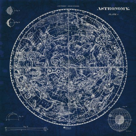Have to have this print!! Gorgeous... Celestial Blueprint Print by Sue Schlabach at Art.com
