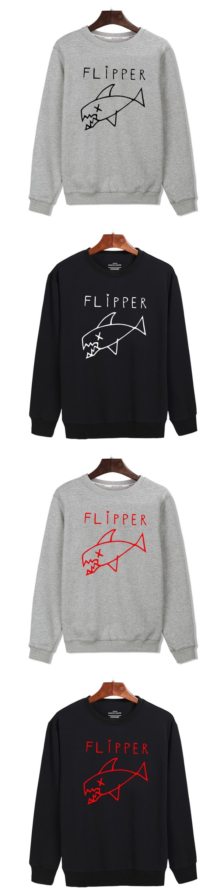 BTS Cartoon Flipper Fish Capless Sweatshirt Men Hoodie Winter Funny Hoodies Men Hip Hop Fashion Casual XXS-4XL Shark Clothes