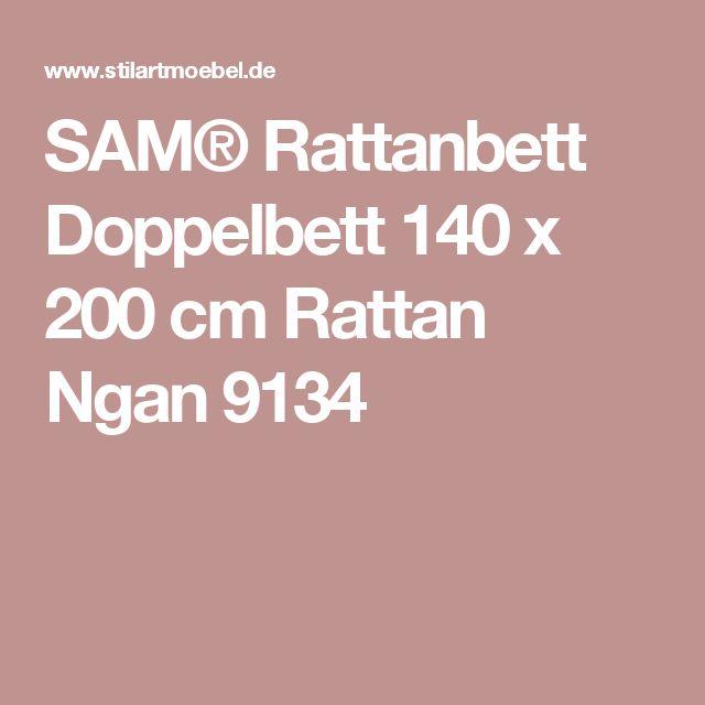 SAM® Rattanbett Doppelbett 140 x 200 cm Rattan Ngan 9134