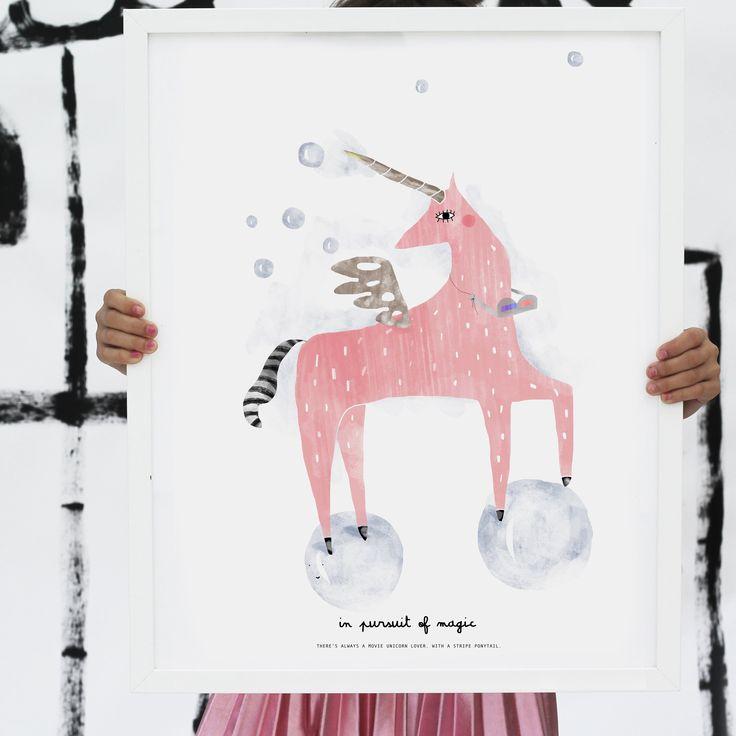 ART PRINT | UNICORN / VIOLETA COR.DE.ROSA - http://www.violetacorderosa.com/product/art-print-unicorn