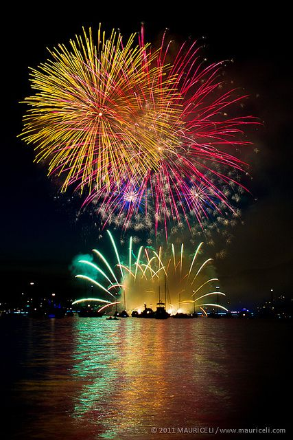 Fireworks at Vancouver, British Columbia, Canada