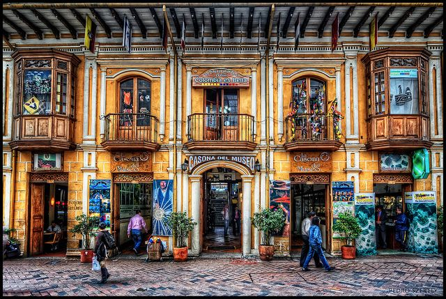 Beautiful Bogota (Colombia, that is!) - this amazing photo was taken by Pedro Szekely in 2010.  It is next ddor to El Museo del Oro, which I have been to and hope to pay a return visit to some day....