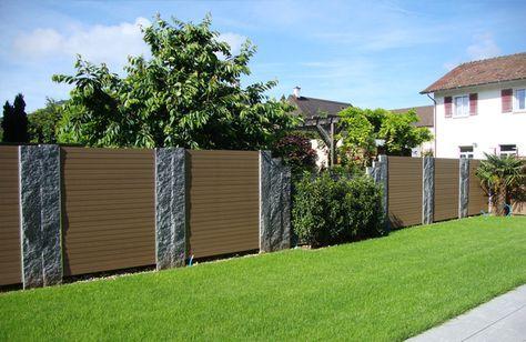 7 best Zaun images on Pinterest Decks, Garden fences and Garden - sichtschutzzaun aus kunststoff gute alternative holzzaun