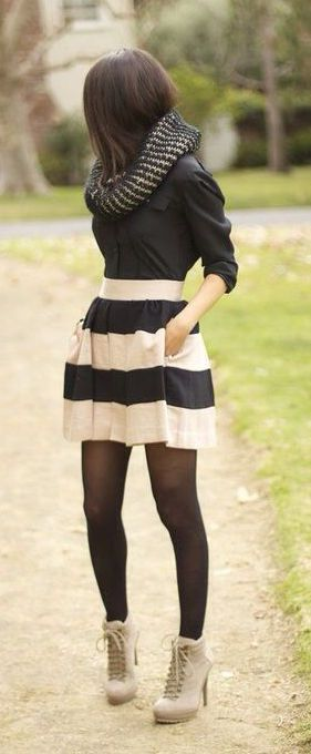 #fall #fashion / black & white