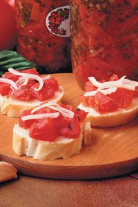 Bruschetta Canning Recipe (need to modify due to call for white wine)