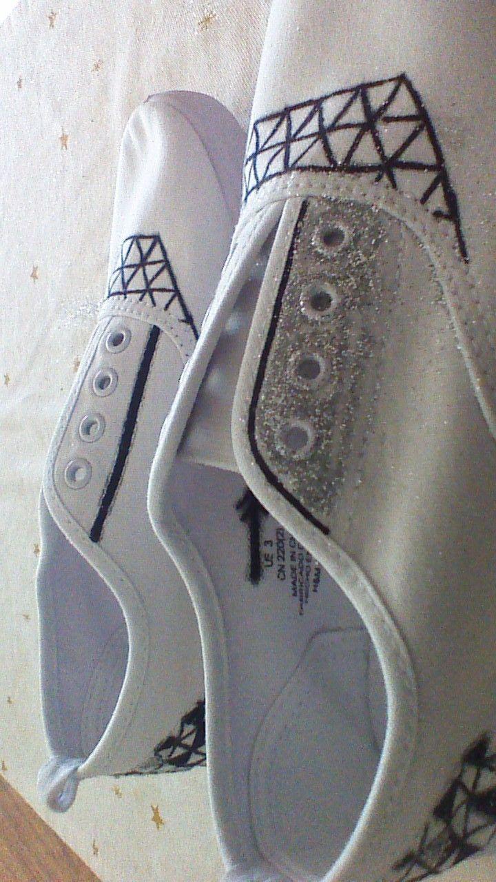 chaussures basiques customisées