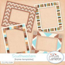 Southwestern Frames Templates by Kim Cameron cudigitals.com cu commercial template scrap scrapbook digital graphics Cameron #digitalscrapbooking #photoshop #digiscrap #scrapbooking