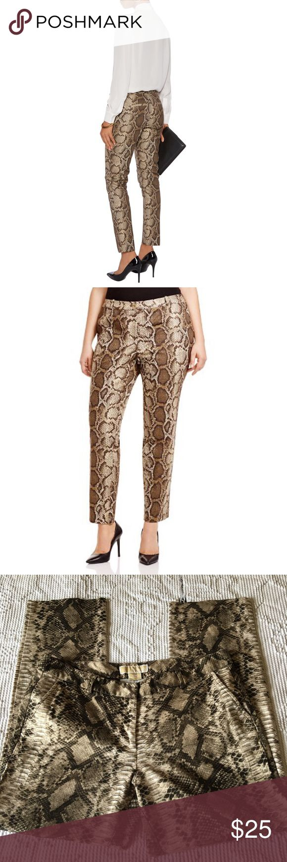 """Michael Kors Miranda Python Print Pants Open for reasonable offer. The item that you are about to purchase is a Michael Kors Miranda Python Print Pants. Size 10P. In a great condition. Inseam is 26"""". To make an offer, please use """"offer"""" Button. Thank you! MICHAEL Michael Kors Pants Ankle & Cropped"""
