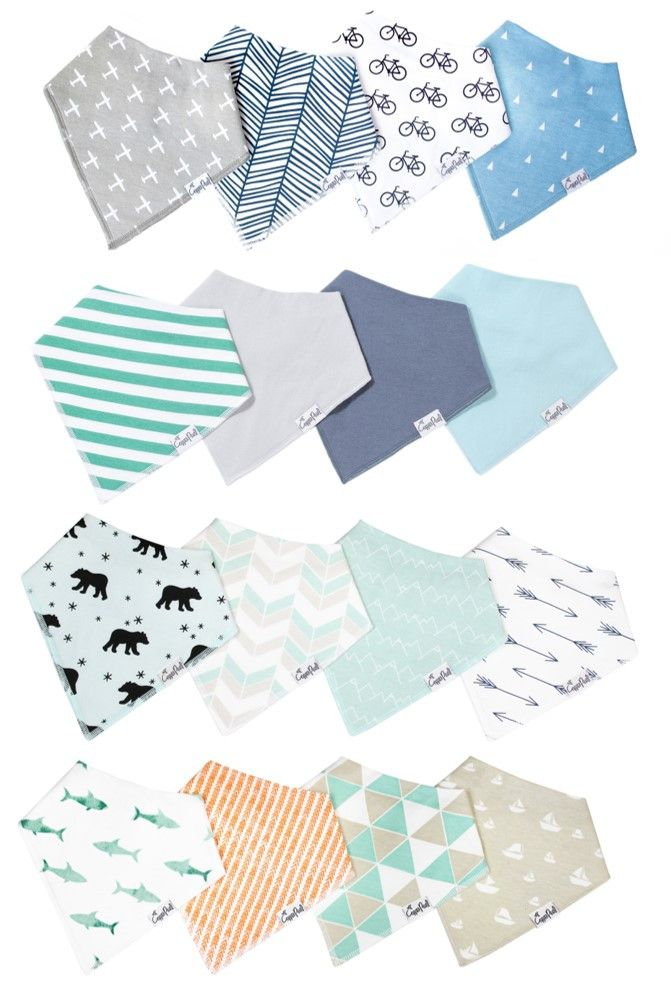 - Buy as bundle and save 15% (approx. $13.00 of savings) - Perfect gift set for baby showers and baby registries - Baby Boy Bundle includes our Cruise bib set, Archer bib set, Pacific bib set, and Oxf