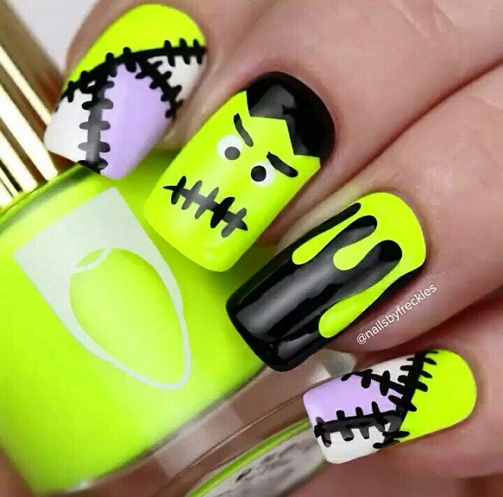 Atractivo Sencillo Arte De Uñas Diseños De Halloween Foto Ideas ...
