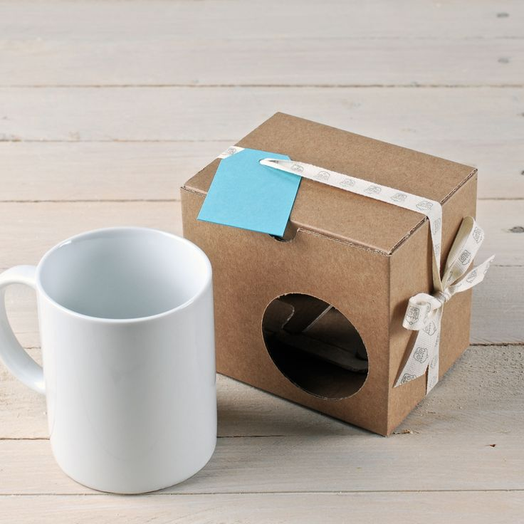 Dress your mug up and give them as a present!! A mug is always a good idea! Visit us: http://selfpackaging.com/2243-box-for-mugs-709.html #mug #mugboxes #handmade #design #diy