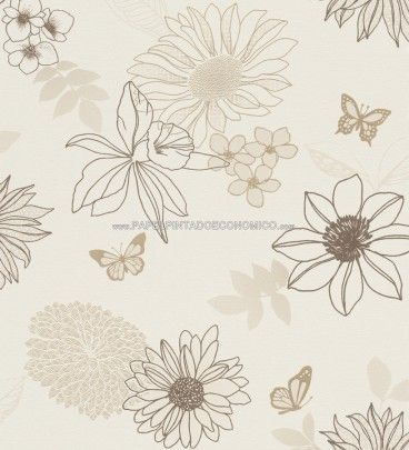 1000 images about papel pintado flores grandes on - Papeles pintados salon ...