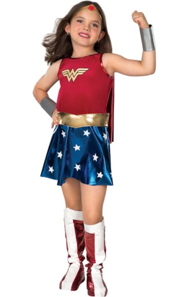 Child Deluxe Wonder Woman Super Hero Costume   Jokers Masquerade £18.99