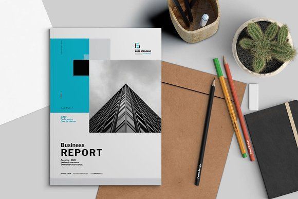 Business Report Template by Elite_Standard on @creativemarket
