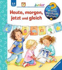 Astazi, maine, acum si imediat – Heute, morgen, jetzt und gleich; Seria Junior Autori: Susanne Szesny, Daniela Prusse; 2-4 ani; Timp mai mult, timp mai putin, maine, amiaza, zilele saptamanii, lunile, anotimpurile si anul, cu exemple uzuale si clapete, ajuta copiii sa inteleaga notiunile abstracte despre timp. Cand este acum si ce inseamna imediat? Ce inseamna repede si ce dureaza mult? Care zi din care luna? Copiii vor reusi sa estimeze mai bine momentele si intervalele timpului.