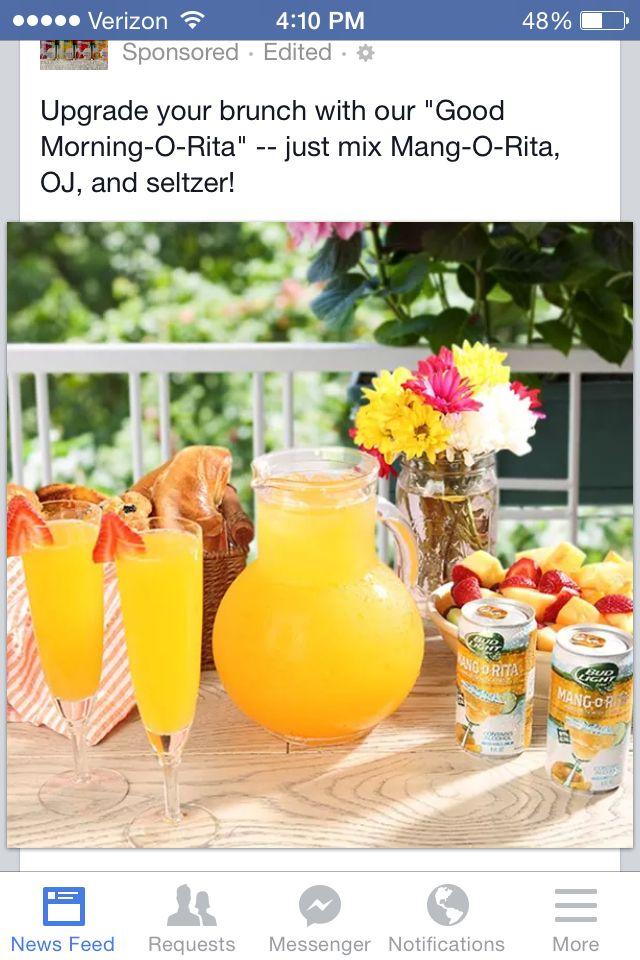 Bud-Light Mango-Ritas *Add OJ, Ice, && Seltzer