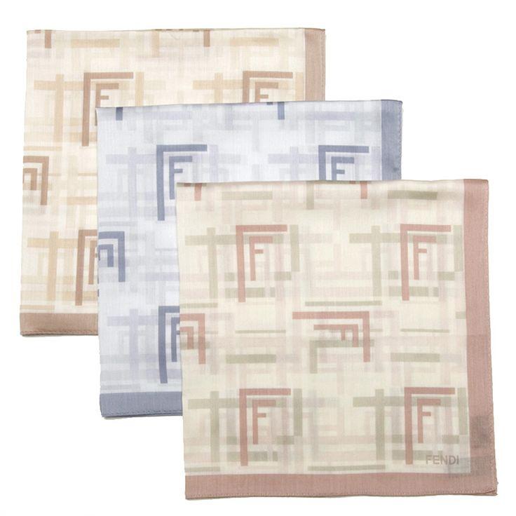 Fendi Bandana Artistic FF Logo Cotton Scarf