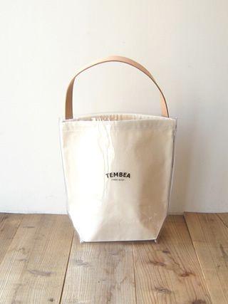 TEMBEA(テンベア) バゲットデリバリートートロゴ[TMB-1680H] 透明PVC/ナチュラル - clothes tile