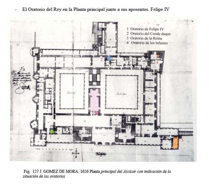 Real Alcazar Madrid - Situación Oratorios Felipe IV