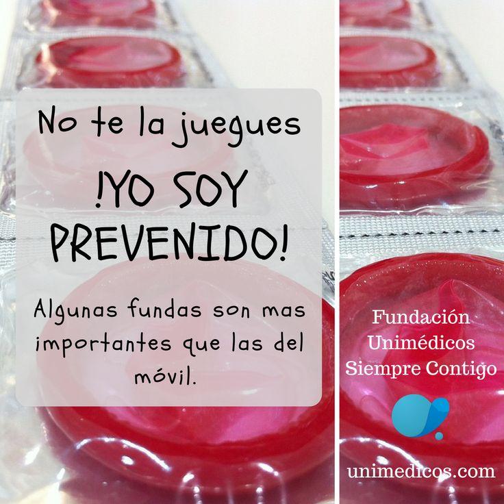 No te la juegues ¡Yo soy prevenido! Algunas fundas son más importantes que las del móvil #FundaciónUnimédicos #EMASiempreContigo #Condón