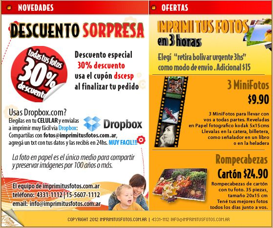 Imprimi tus fotos .com.ar | Revelado Digital muy facil, revelado de fotos digitales las 24hs