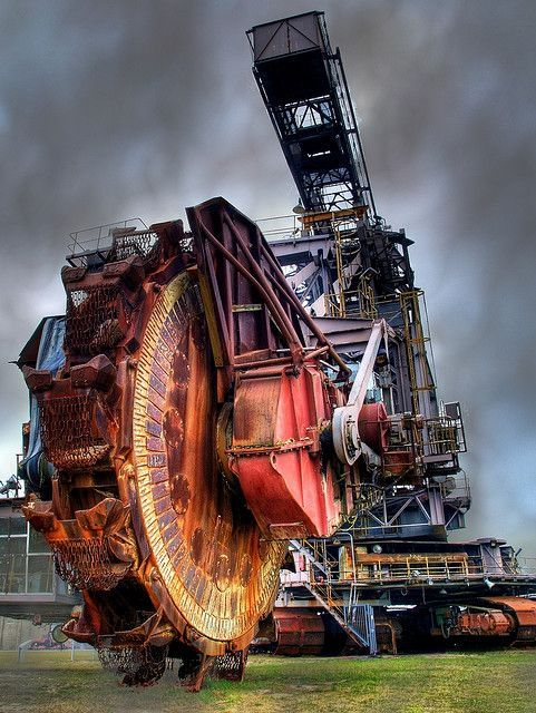 Massive Open Pit Mining Machine can eat a football field worth of dirt and rocks before you have finished your lunch.