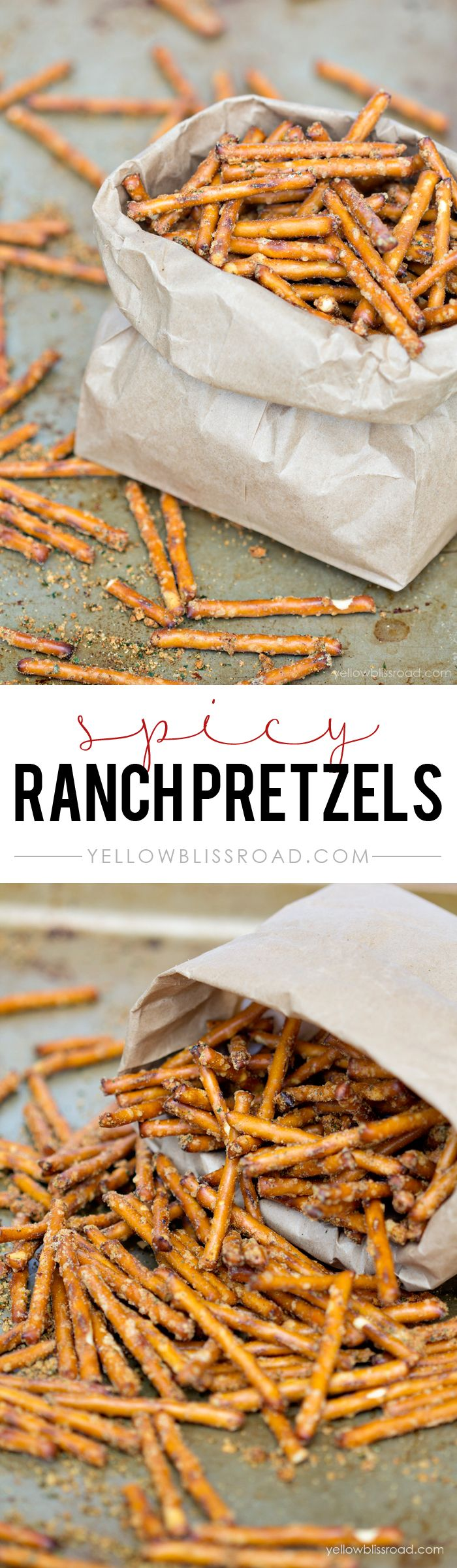 Spicy Ranch Flavored Pretzels - A quick and easy snack