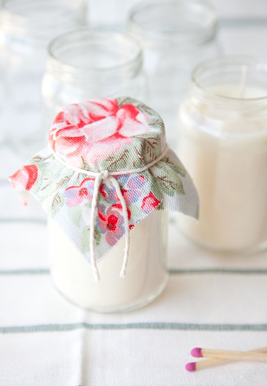 Candles Made in Baby Food Jars