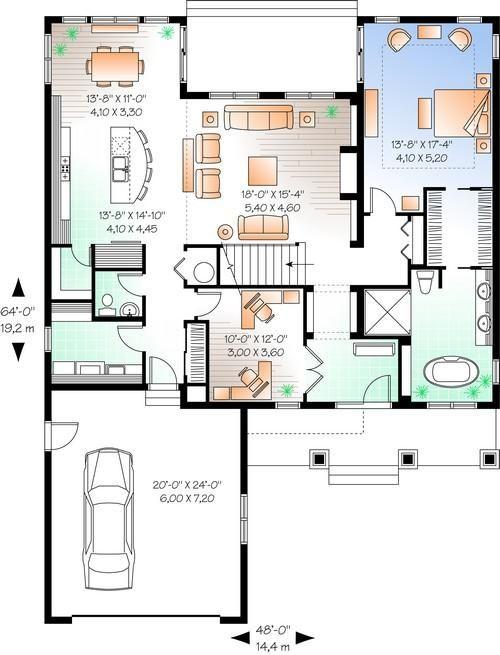 Best 25 craftsman floor plans ideas on pinterest house for Craftsman floor plans with basement