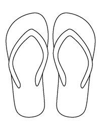 photo about Flip Flop Template Printable called Pin upon Crafts