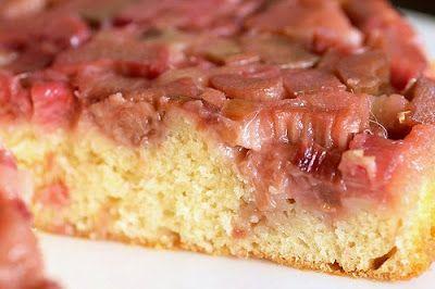 Tasty Tuesdays - Rhubarb Upside Down Cake - The Knit Wit by Shair